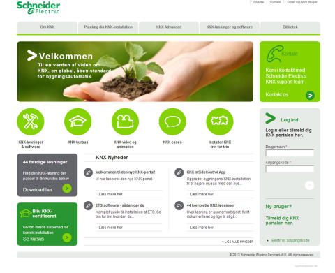 Dansk KNX-portal i ny udgave