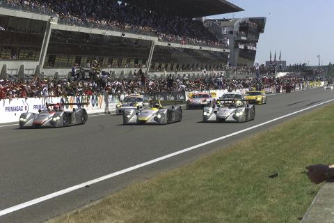 In 2000, Audi clinched a 1-2-3 win at le Mans with the R8