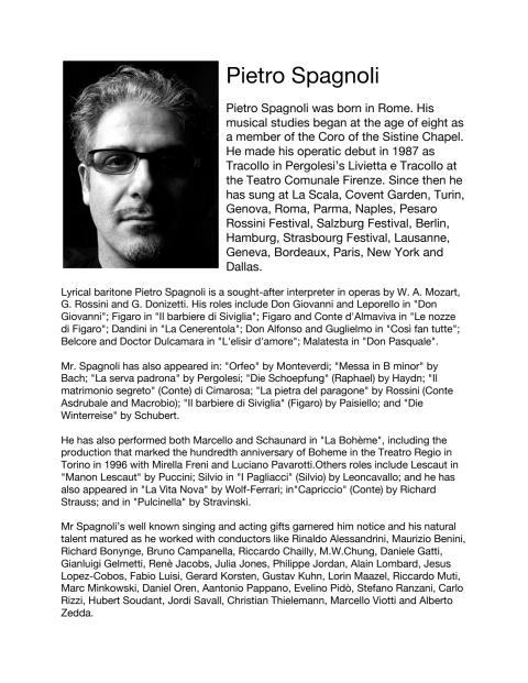 Singer Biography: Pietro Spagnoli, lyrical baritone (in English)