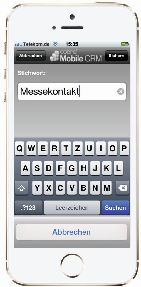 cobra Mobile CRM in der neuen Version für's iPhone
