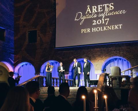 Per Holknekt utsedd till Årets digitala influencer 2017