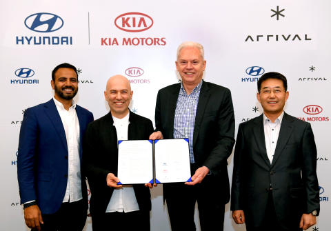 Kia Motors Corporation og Hyundai Motor Company inngår samarbeid med Arrival.