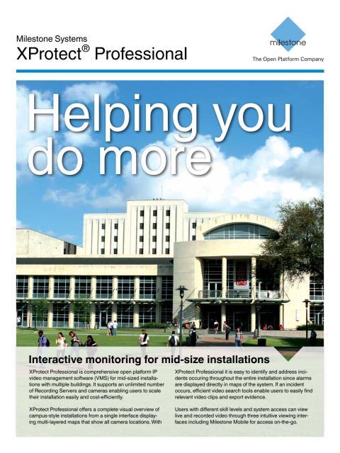 Kameraövervakning från Gate Security - Milestone XProtect Professional