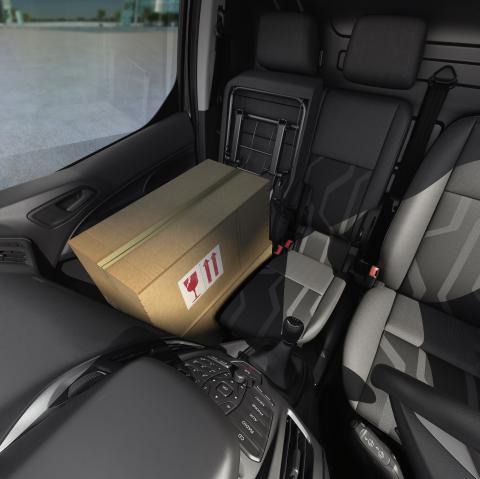 Ford Transit Connectin lastausmahdollisuuksia
