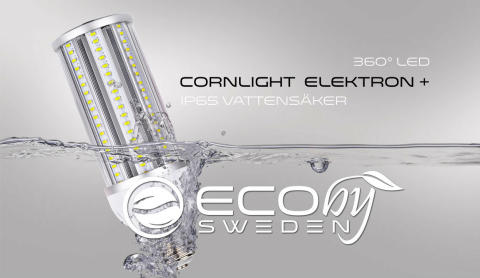 Cornlight Elektron 360° - Helt ny med IP65 och upp till 150 lumen per watt