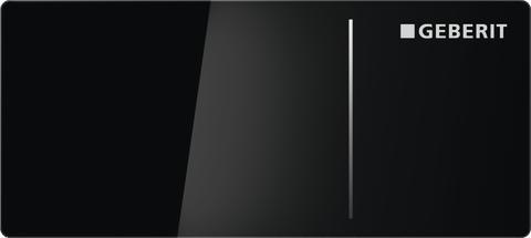 Geberit spolplatta Omega70 - svart glas