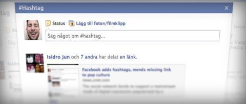 Facebook låter oss nu använda hashtags