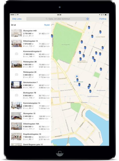 Booli.se lanserar ny app för iPhone och iPad