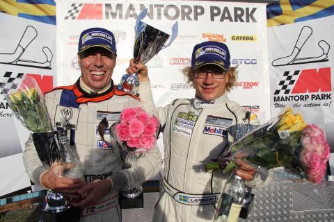 Ingvar Mattsson-Fredrik Larsson, Porsche 911 GT3 Cup. Segrare Swedish GT, GTA. Foto: Jerker Johansson