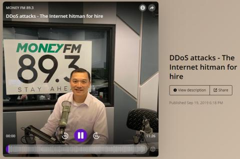 Cheah Wai Kit in command and control of interview on DDoS attacks