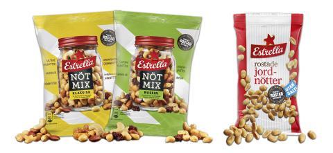 Nya, välrostade nötter från Estrella
