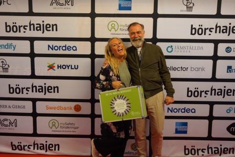Ann Lund vinnare av mySafety Försäkringars aktieportfölj värd 20 lax