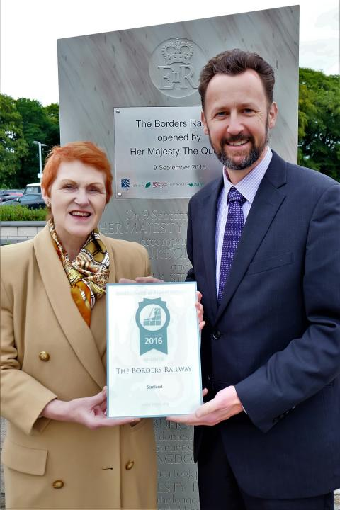Borders Railway picks up prestigious travel award