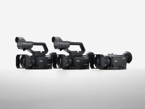A Sony apresenta as três novas câmaras de vídeo com um impressionante desempenho de focagem automática, dotadas de um sensor AF de 273 pontos de deteção de fases e com gravação 4K HDR