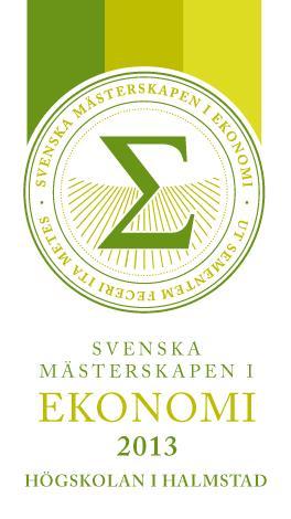 Lansering av SM i Ekonomi 2013