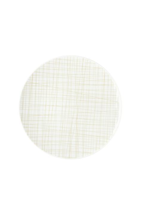 R_Mesh_Line Cream_Plate 24 cm flat