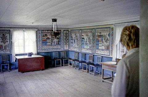 Inger Göransson först ut i Siggebohyttans festsal