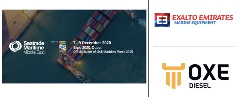 OXE Diesel displayed at Sea Trade Maritime by Exalto Emirates, 7 - 9 December