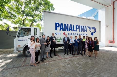 Panalpina Singapore goes green with new biodiesel trucks for L'Oréal Travel Retail Asia Pacific
