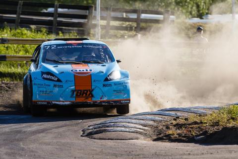 RallyX Nordic 03 2017 JK.jpg. Sex tävlingar i tre länder – Sverige, Norge och Danmark – väntar förarna i RallyX Nordic 2017. Deltävlingarna i Sverige avgörs i Arvika, Stockholm, Götene och Strängnäs.
