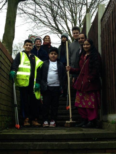 SPRING CLEAN: Residents around Smallbridge helped keep the streets clean with a litter pick