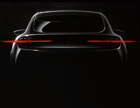 Ford afslører konceptbillede af ny Mustang-inspireret elbil