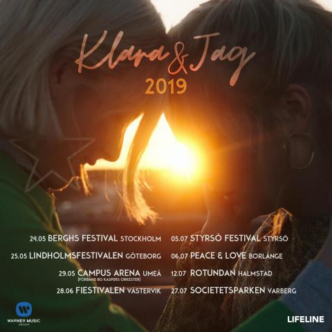 Klara & Jag ger sig iväg på turné i sommar-Sverige!