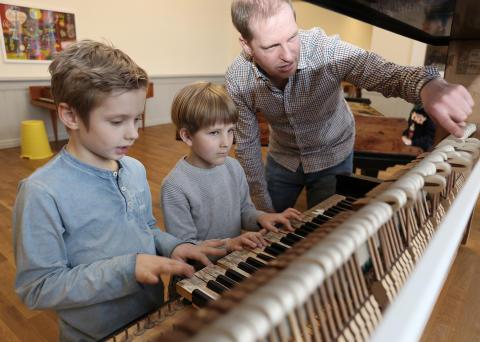 Mini Lunder besuchen Musiculum in Kiel