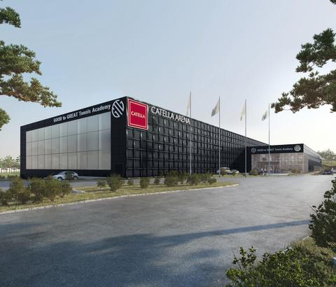 En tennisanläggning i världsklass – Catella Arena