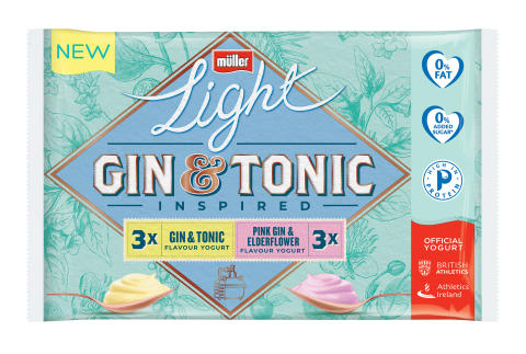 Müllerlight launches gin & tonic inspired yogurt