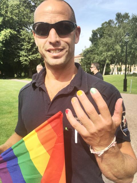 Räddningstjänsten på Pride i Helsingborg 2016.
