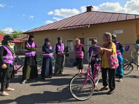 Cykelskola på Rosengård