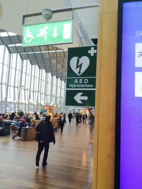 Stockholm Arlanda Airport blir Hjärtsäker Zon