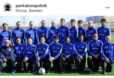 Hjerta Kiruna sponsrar laget som spelar på Sveriges nordligaste gräsplan