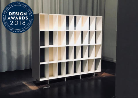 Shelving system with Swedish design in upcycled material gets awarded for Best Design at the Danish Design Awards.