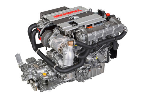 Hi-res image - YANMAR - YANMAR 4LV Series of common rail engines (right side back)