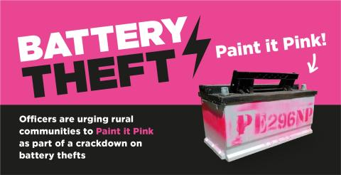 Paint it Pink campaign to deter battery thieves