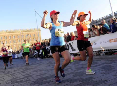 Start och mål vid Stockholm Slott