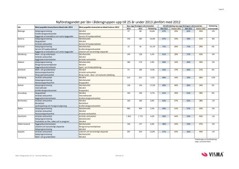 Vismas rapport över nyföretagandet bland unga 2013