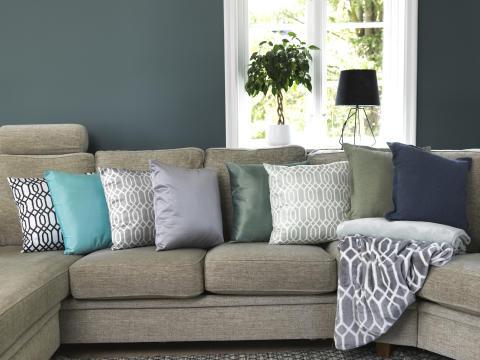 Cushion Michelle, Cushion Silva, Cushion Stockholm, Blanket Michelle