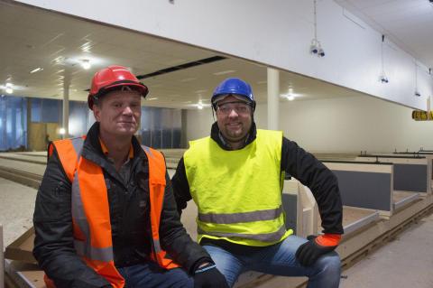 Millimeterprecision när Partille arenas bowlinghall byggs