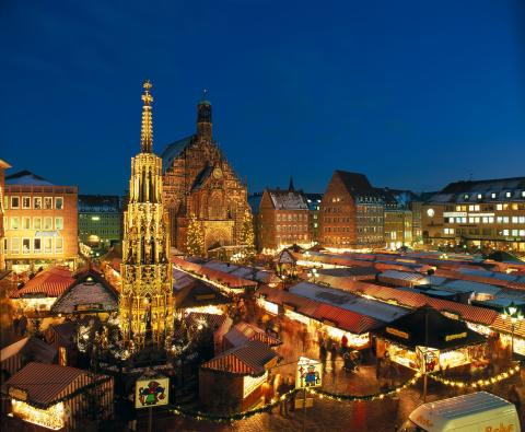 Julmarknaden Christkindlesmarkt i Nürnberg