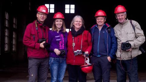 Lindesbergs Fotoklubb på fotoutflykt till Ställbergs gruva