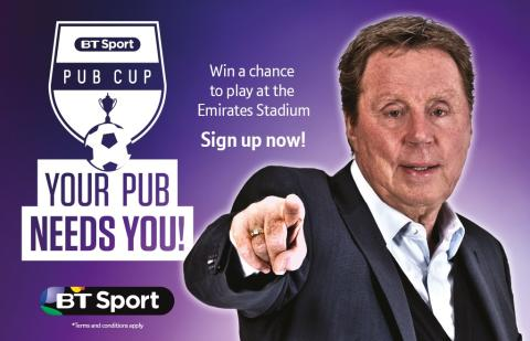 BT Sport launches BT Sport Pub Cup with the final to take place at The Emirates
