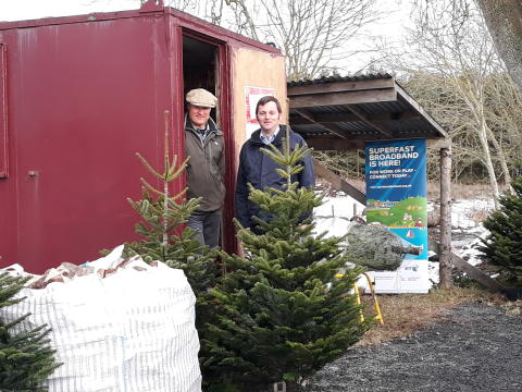 Christmas heats up as Northumberland firewood company goes superfast