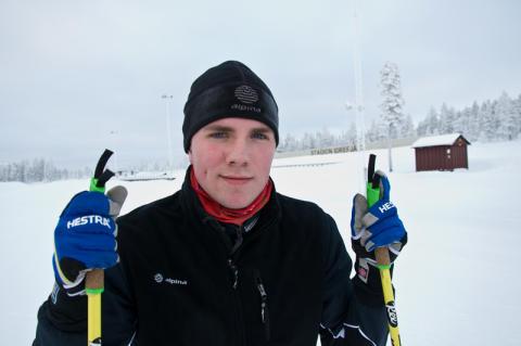 Fredrik Karlsson från Idre Fjäll tävlar i Junior-VM
