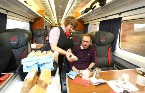First Class: The 'weekend offer' being served on-board