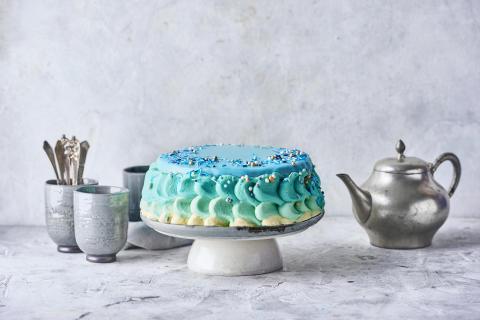 Kong Tritons blå Nutella Lagkage