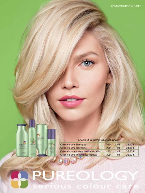 Pureology Clean volume tiedote 2017
