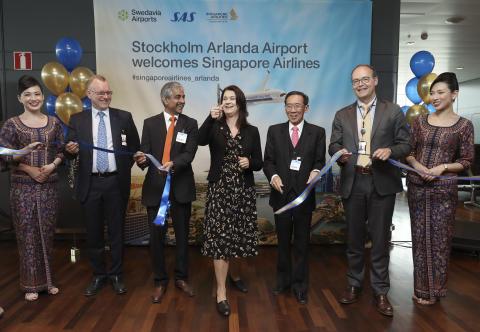 Arlanda välkomnar Singapore Airlines och Airbus A350 till Stockholm
